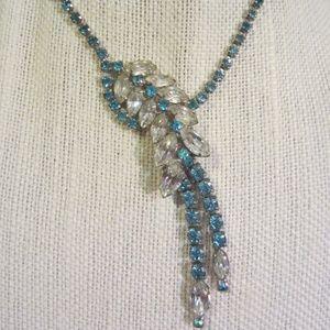 Gorgeous vintage waterfall rhinestone necklace